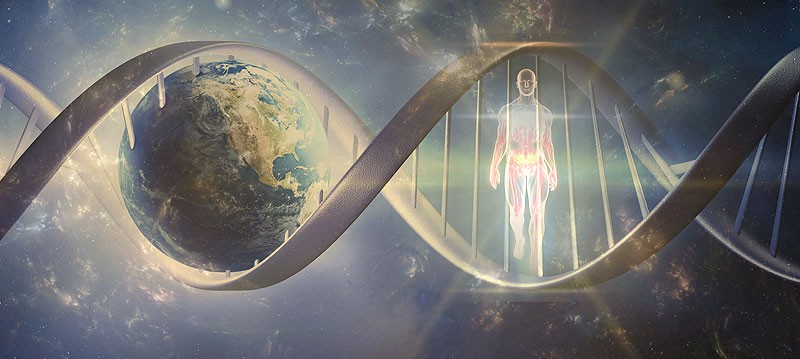 Image planet Earth DNA human