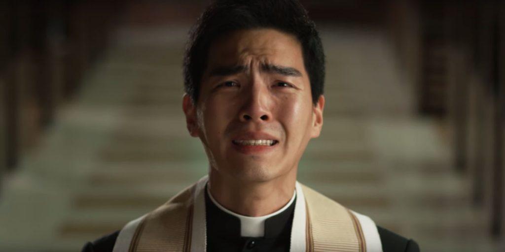 crying Catholic priest