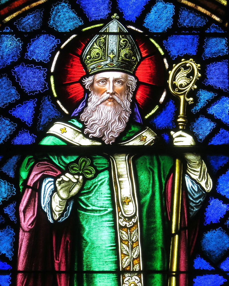 Saint Patrick stained glass