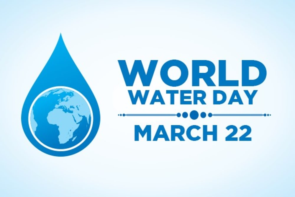 World Water Day logo and text