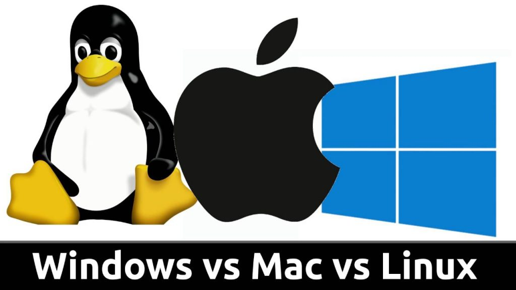 Mac OS vs Windows vs Linux logos