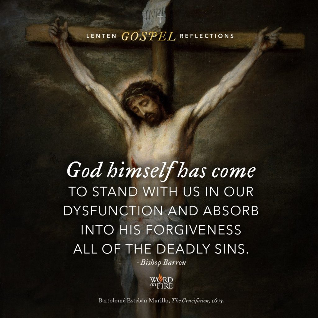 Jesus Christ on the cross Word On Fire Bartolome Esteban Murillo The Crucifixion 1675