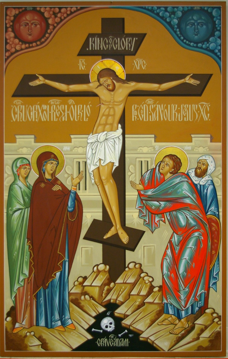 Orthodox Jesus crucifixion painting