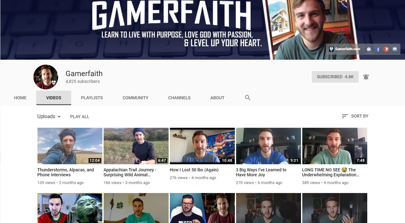 A great Christian YouTube channel: Gamerfaith