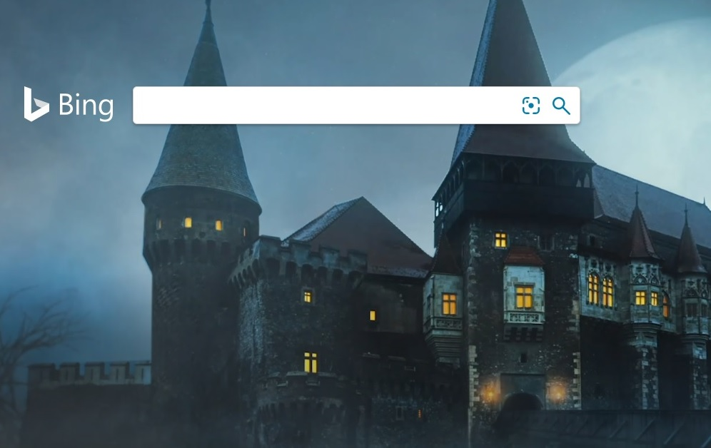 bing Halloween 2019 Corvin Castle Romania screenshot