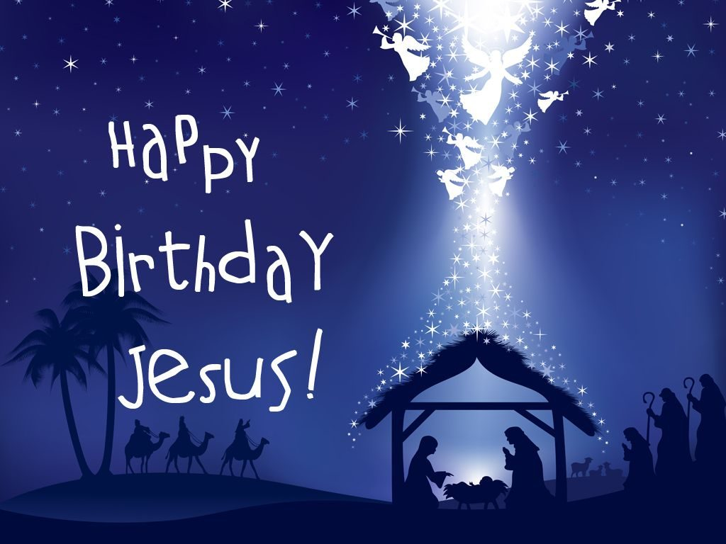 Happy Birthday Jesus drawing