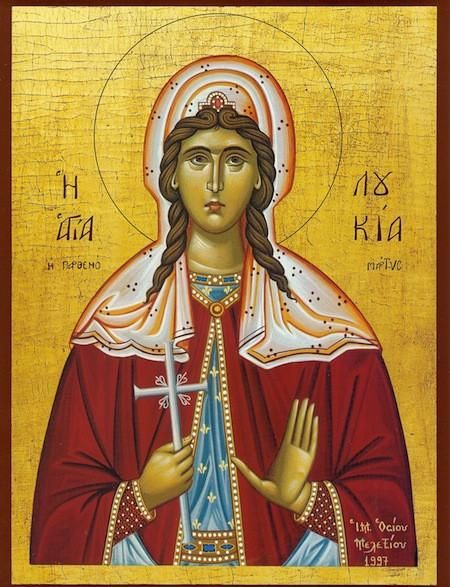 Saint Lucia of Syracuse icon Orthodoxy