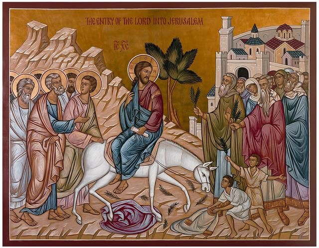 Greek Orthodox icon Palm Sunday The Lord s Triumphal Entry Into Jerusalem