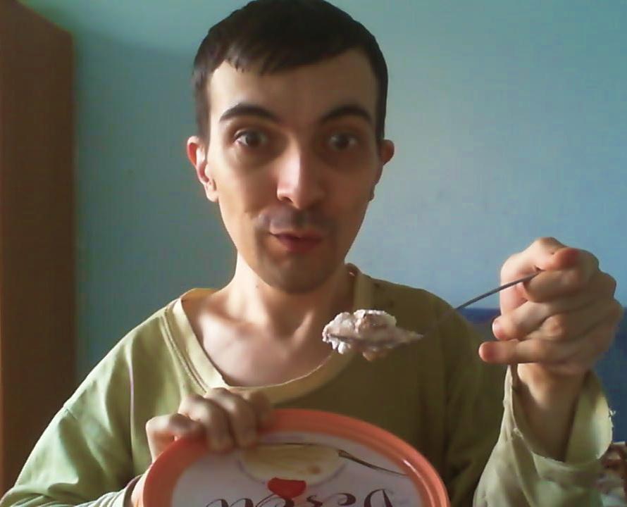 Vanilla ice cream selfie lucian hodoboc