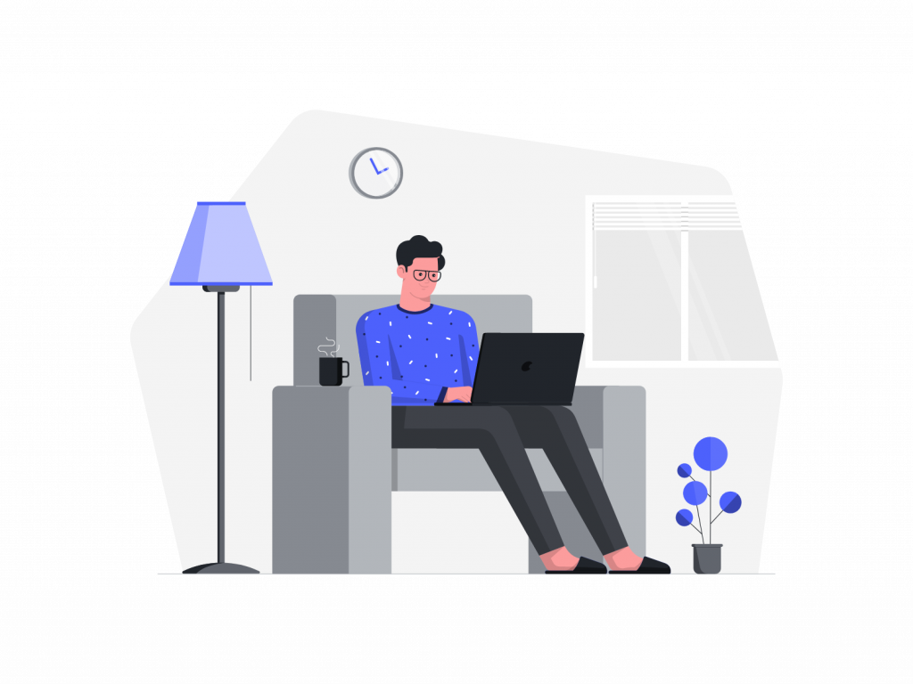 Work from home free illustrations royalty
